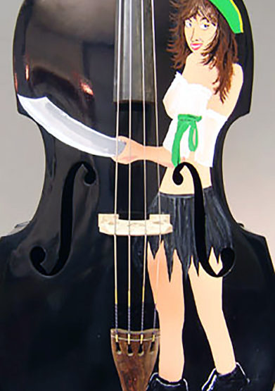 Painted Englehardt Pirate Bass